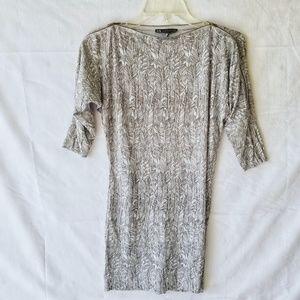 Armani Exchange Blouse Top Shirt Leaf Design